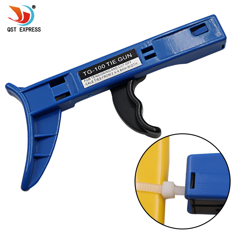 Zip Tie Gun >> Us 3 19 20 Off Tg 100 Fastening And Cutting Tool Special For Cable Tie Gun For Nylon Cable Tie Width 2 4 4 8mm In Pliers From Tools On Aliexpress