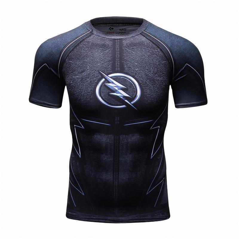 Compressie Shirt-3D Gedrukte T-shirts Heren Lange Mouw Superman - Herenkleding - Foto 6