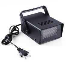 Hot Sale EU Plug Brightness 220V 3W 24 LED Operated DJ Strobe Lights Disco Party Club Stroboscope White stage light effects