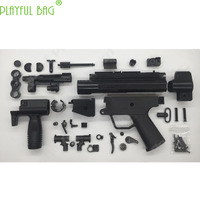 Outdoor activity EX version MP5K small grey HQ industrial toy water bullet gun modified short burst parallel magazine clip OJ17