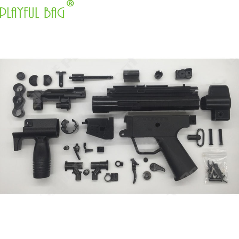 Outdoor Activity EX Version MP5K Small Grey HQ Industrial Toy Water Bullet Gun Modified Short Burst Parallel Magazine Clip OJ17