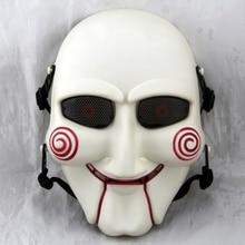 Тактическая пила лобзик кукла Полное Лицо Маска для косплея на Хэллоуин сетка череп Военная военная игра страйкбол пейнтбольные маски