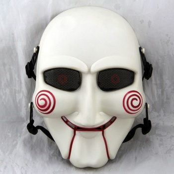 цена на Tactical SAW Jigsaw Puppet Full Face Cosplay Halloween Mask Mesh Skull Military Army Wargame Airsoft Paintball Masks
