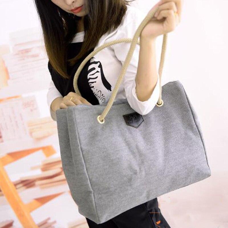 new style women handbag fashion shopper big canvas tote sling bags ...