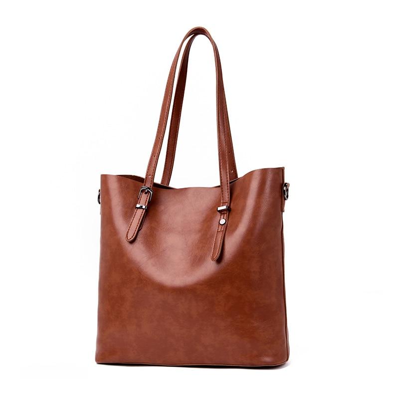 3Pcs/Sets Large Capacity Women\'S Leather Handbag Totes Casual Bucket Shoulder Bag For Ladies Crossbody Messenger Bags Clutch Sac