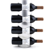2018 1PC Practical Stainless steel wine holder hanging fashion bar wine shelf creative wine frame wall thickening wine rack