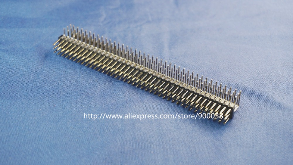 10pcs 3x40 P 2.54mm Pitch Pin Header triple row Male right angle square pins through hole gold plated three rows space 2.54 10pcs 2x40 p 80 pin 2 00 mm female header pin headers dual row straight through hole insulator height 4 30mm rohs 2mm pitch