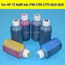 цена на C9403A 72 Refill Dye Ink kit For HP 72 Cartridge Printing Bulk Ink For HP T790 T610 T620 T770 T795 T1200T T1300 T2300 BMKJ