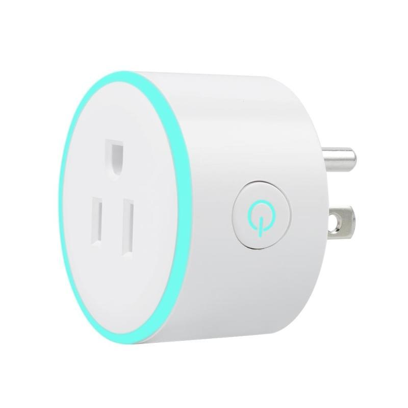 QIACHIP 220V 110V WiFi Smart Power Plug Smart Home Socket US Plug Wireless Remote Control Timer Outlet Work with Amazon Alexa H2