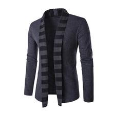 2018 حار بيع ماركة-الملابس الربيع سترة الذكور جودة الأزياء القطن سترة الرجال عارضة رمادي أسود رجل كنزة