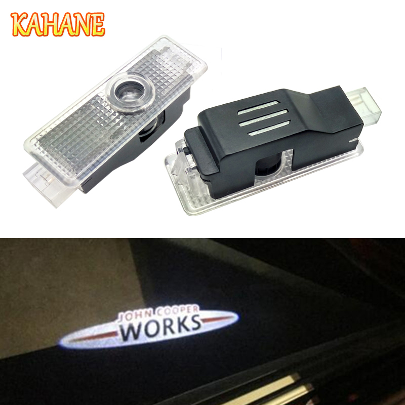 KAHANE 2pcs LED Car Door Light Courtesy Laser Projector Light Ghost Shadow Welcome Light FOR Mini Cooper R36 R56 R57 ghost light