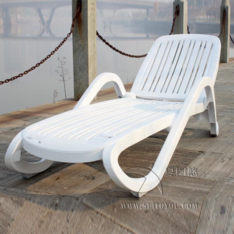 Sedie Da Mare In Plastica.Di Plastica Di Colore Bianco Mobili Da Giardino Sedia A Sdraio