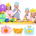 New Kids Crown Stickers Puzzle 3D Toys DIY Craft EVA  jigsaw Puzzle Toy Manual Cap Hat Headdress Educational Toys for Children