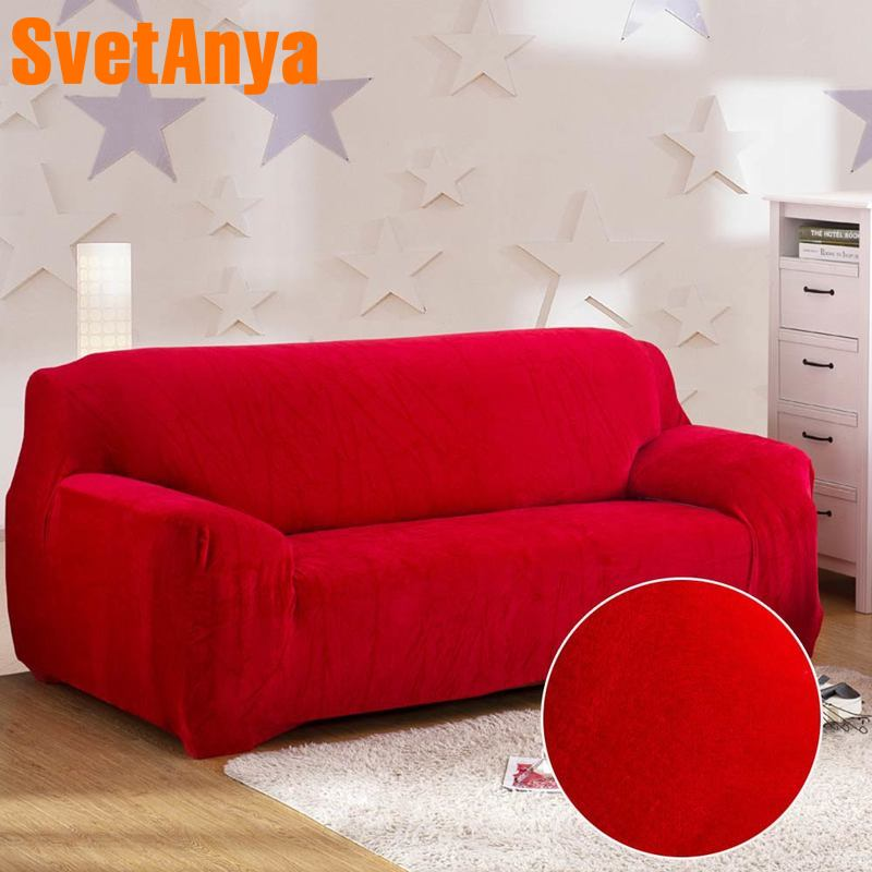 Fleece Sectional Sofa Cover All inclusive Couch Case Tight