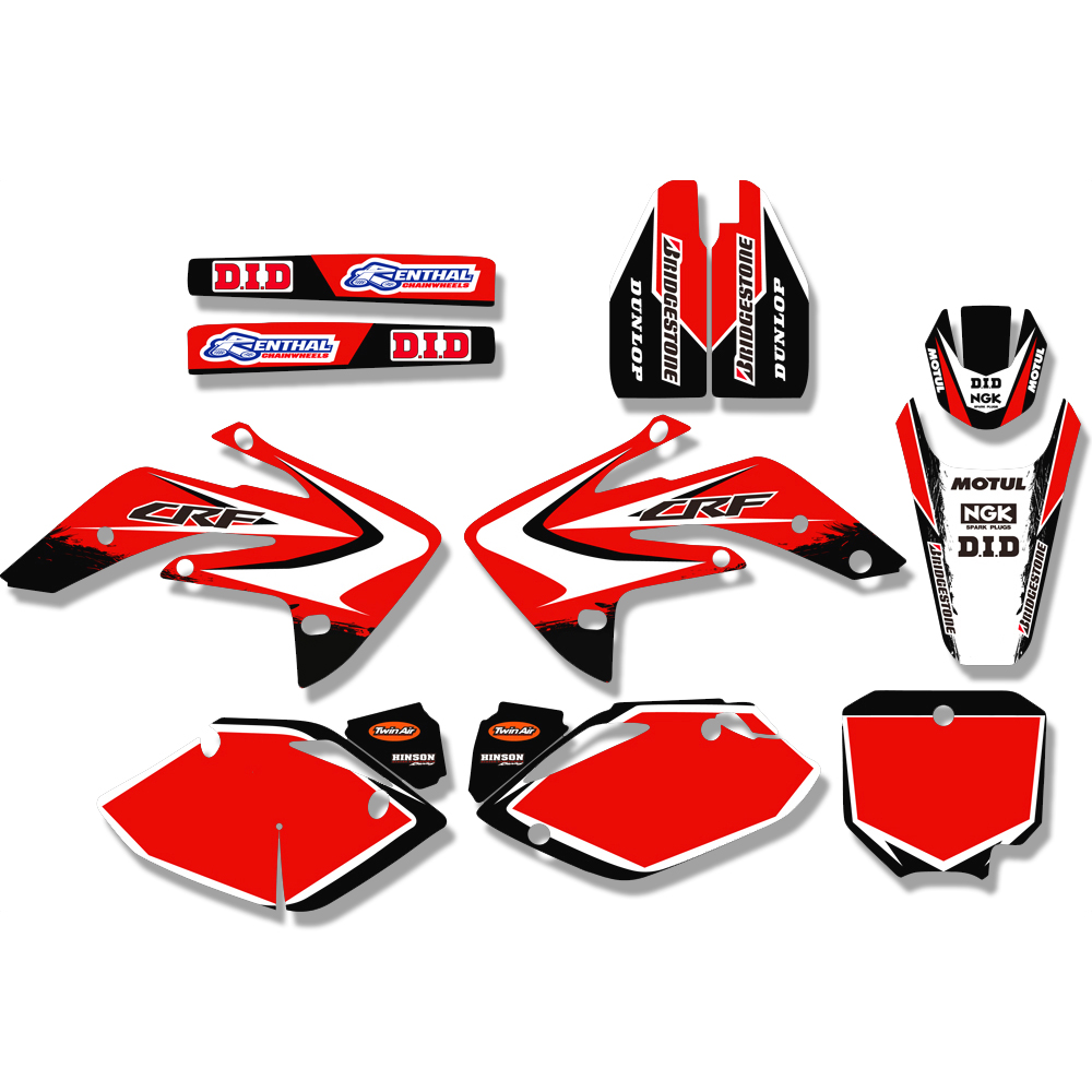TEAM GRAPHICS BACKGROUNDS DECAL STICKER For Honda CRF150R LIQUID COOLED CRF150RL CRF150RB 2007 2018