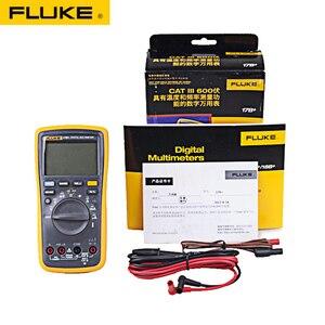Image 2 - Автоматический цифровой мультиметр Fluke 15B +/17B +/18B +/12E + Plus, DMM AC/DC/диод/R/C, тестер тока
