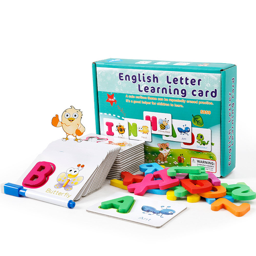 2020 Newest V Literacy Cards Vocabulary Word Picture Game Educational Toys  Game Card English Alphabet Letters Learning Toys