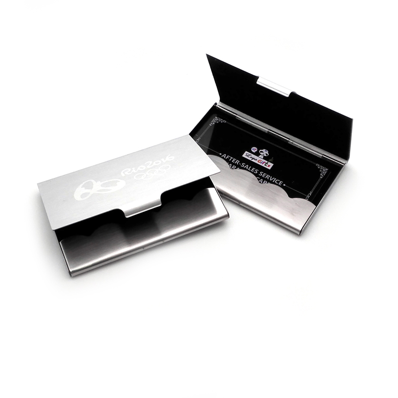 Top Quality !! Business cards ID Credit Card Case Metal Fine Box Holder Stainless Steel Pocket,Design Your Logo/name/email