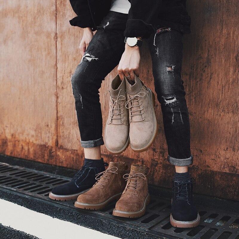Hommes chaussures de randonnée nouveau Design semelle en caoutchouc antidérapant en plein air respirant chaussures de Sport résistant à l'usure chaussures de randonnée baskets hautes