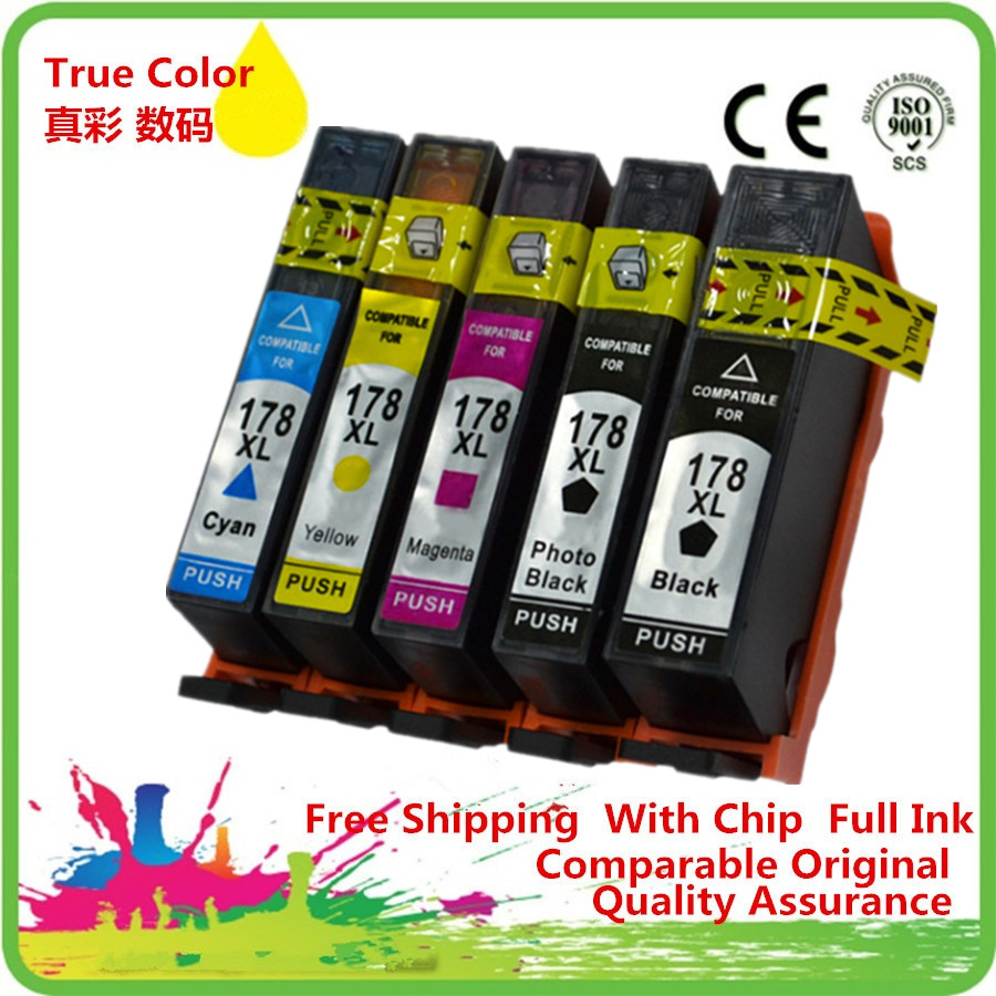 Replacement 178 XL 178XL Ink Cartridges Replace For <font><b>HP178XL</b></font> HP178 Photosmart C6380 C6300 C5300 C5383 C5380 image