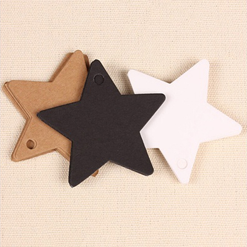 100Pcs Star Kraft Paper Party Favor Gift Wedding Cards Label Luggage Tags