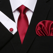 Mens Tie Dark red Striped 100% Silk Classic Jacquard Woven new brand  Hanky Cufflink Set For Men Formal Wedding Party