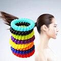 5 unids mujeres dulce cuerda de pelo diadema Elástica línea telefónica banda para el cabello banda de goma de color caramelo cuerda de pelo headwear del pelo anillo