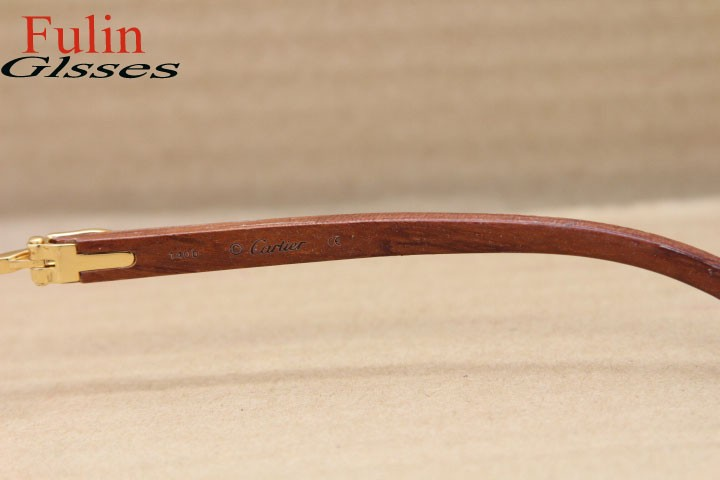 cacbb0d36a NEW Free shipping Wood Rimless Eyeglasses T8100905 Gold or T8100906 ...