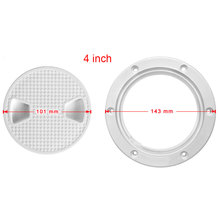 4 Inch Hole Deck Durable Speed Boat Hatch Cover ABS Accessories Motorhome Non Slip Round Plate Inspection Access Easy Opening