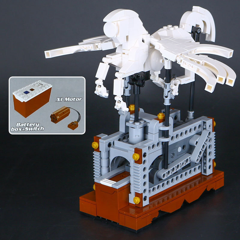 Lepin 23015 485Pcs Technic Series The Pegasus Automaton Mechanical Flying Horse Set Educational Building Blocks Bricks Toys Gift in stock lepin 23015 485pcs science and technology education toys educational building blocks set classic pegasus toys gifts