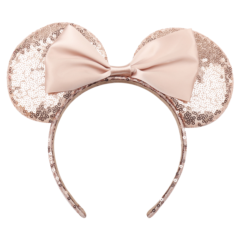 Headwear   Hairband Sequin Bow Headband for Girls Minnie Mouse Ears Hairbands Birthday Party Kids Fashion Hair Accessories