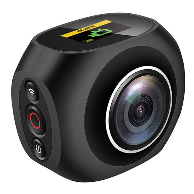 HOT 4K HD 360 Degree Panoramic Camera VR Mini Handheld Unique Dual Lens Sport Camera WiFi Video Action Sports Camera Pano 360 360 camera 4k ultra hd panoramic action camera 1080p 3d fisheye lens vr camera wifi mini sports video camera deportiva kamera