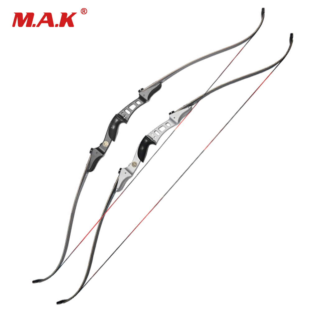 20/25/30/35/40/45/50 LBS 60 Inches Recurve Bow with Aluminum Alloy Bow Riser for Outdoor Games Archery Training Hunting Shooting recurve bow draw weight 15 lbs bow for children archery training toy games for practice