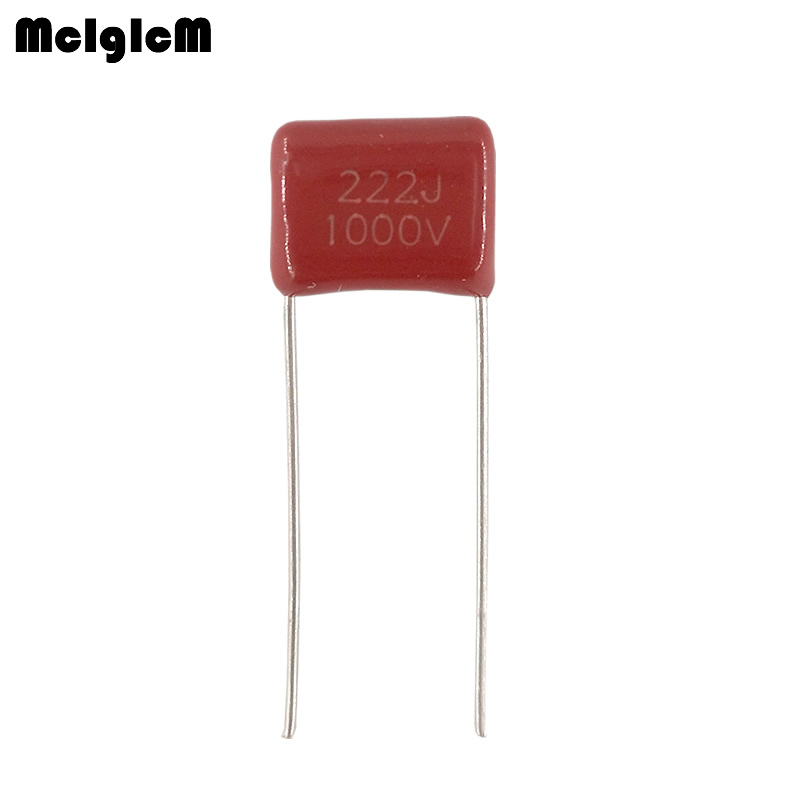 MCIGICM 1000 pcs 222 2 2nF 1000V CBB Polypropylene film capacitor pitch 10mm 222 2 2nF