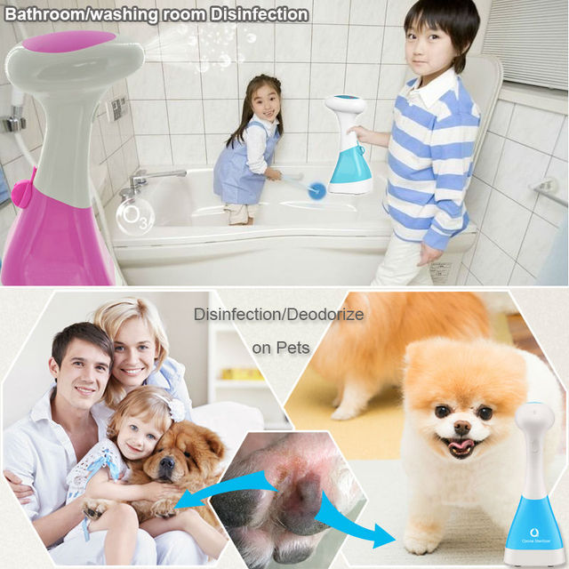 Portable ozone generator hand pet disinfectant ozone water treatment antiseptic spray deodorizer ozone generator medical home