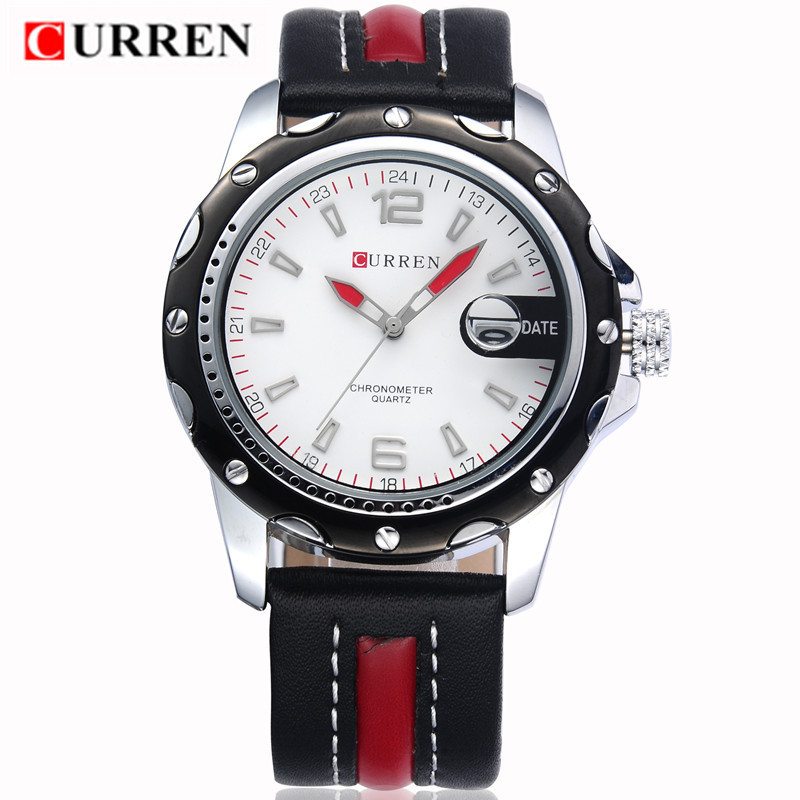 2016 LUXURY Curren Brand Quartz gold Watches Deluxe Men leather watches women Wristwatches Gifts men wristwatches 8104 golden goose deluxe brand повседневные брюки