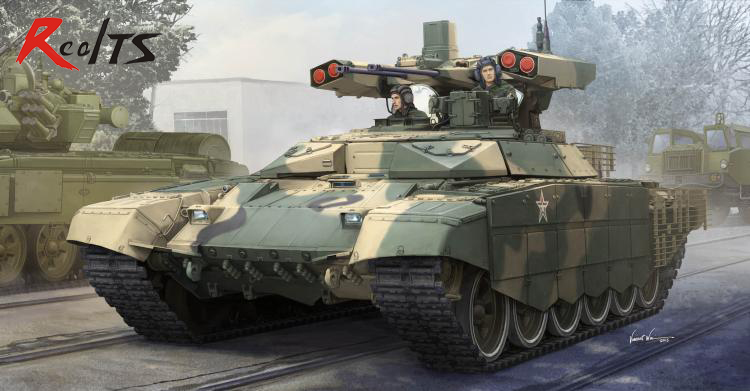 RealTS <font><b>Trumpeter</b></font> 09515 1/35 Scale Russian BMPT-72 Terminator Assembly Military Model Kit image