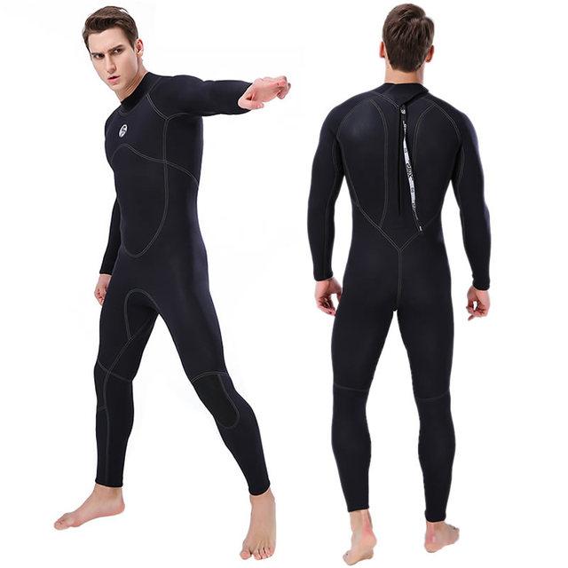 New SLINX 3mm Men Full Body Neoprene Triathlon Wetsuit Scuba Diving Wet Suit for Surfing Snorkeling Spearfishing 4 Colors S-XXXL