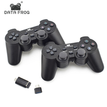 Data Frog Dual 2.4G Wireless Game Controller For Android Smart Phone Joystick Gamepad For Android TV Box For PC