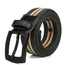 Men Belt 2017 Fashion Unisex Army Tactical Waist Belt Jeans Male Casual Luxury Canvas Webbing Waistband Ceinture Femme 110-130cm