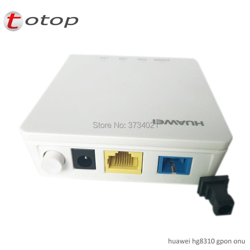 Free Shipping HG8310M Huawei Gagibit GPON ONU ONT Single Lan Port 99% New HG8310M English Firmware With Adapter