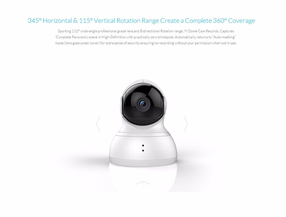 YI DOME HOME CAMERA XIAOYI IP CAMERA WIFI WEBCAM TWO-WAY AUDIO NIGHT VISION 209020 6
