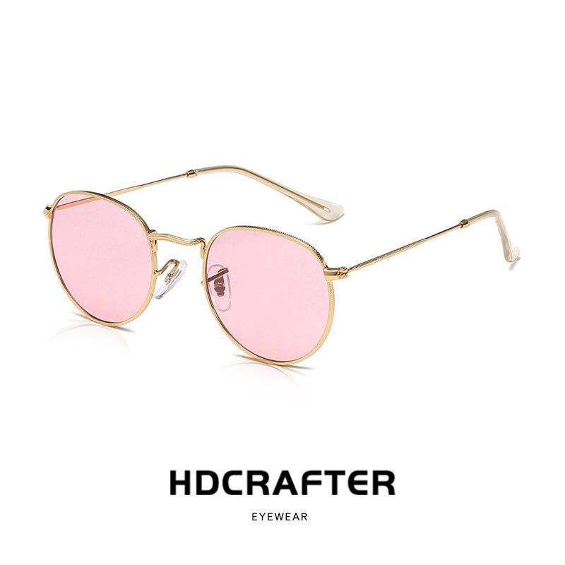 Retro Round Sunglasses Women Men Brand Designer Sun Glasses For Women's Alloy Mirror Sunglasses Lentes female oculos de sol