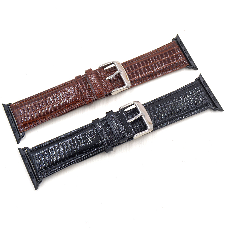 watch accessories gunuine Glossy cow leather watch strap for Apple Watch Band 42mm 38mm series 3/2/1 iWatch Bracelet watchband