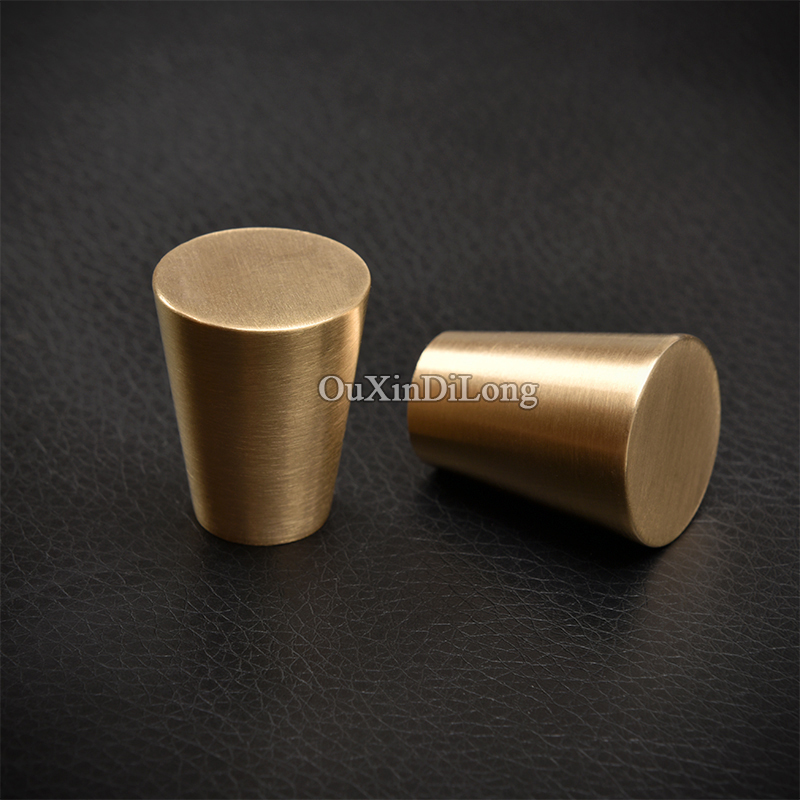 High Quality 10pcs European Solid Brass Cabinet Pulls