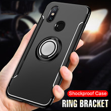 Luxury Soft Shockproof Holder Case For Xiaomi Redmi 5 PLus 6A 6 Pro PC+TPU Full Cover For Xiaomi Mi A2 Lite Ring Bracket Case()