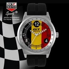 RELOJ GT Marca World Racing Deportes Hombres Reloj Militar del Campus de La Moda Británica de Silicona Correa de Reloj de Cuarzo
