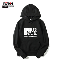XS-3XL Unisex New Born To Dive Forced To Work Letter Print Long Sleeve Humor Funny Dive Cap Hoodies Tracksuits Casual Warm Coats