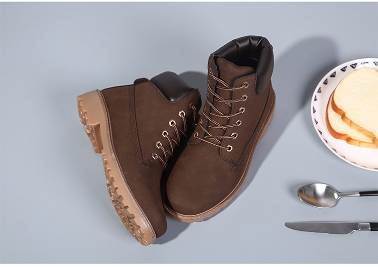 New Arrival Spring Autumn Boots Men PU Leather Unisex Style Fashion Male Work Shoes Lover Martin Boot 26