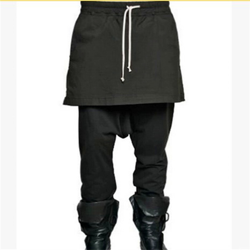Men's Clothing British Style Casual Trousers Belt Skirt Male Costume Plus Size Pantalon Homme Men Clothes 2018 Tactical Pants